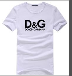 camisas de los hombres de la moda europea Rebajas 100% algodón hombres camiseta 2019 la última moda popular europea y americana verano casual camiseta simple moda letras impresión casual