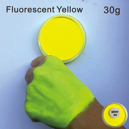 на водной основе Скидка FPNy Fluorescent Yellow Color 30g/pc Water Based Face Body Fluorescent UV Neon Body Paint Pigment in Beauty Makeup Tool