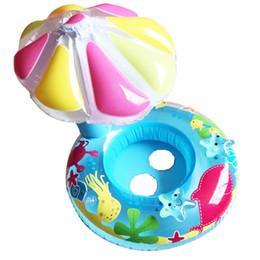 Brinquedos infláveis antigos on-line-Bebê Cogumelo Anel Crianças Verão Inflável Assento de Natação Piscina Guarda-chuva Inflável Círculo de Natação Da Água Divertido Brinquedo Piscina Para 0-3 Anos de Idade