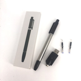 E cigarros slims on-line-Melhor qualidade 350 mah esferográfica vazio vape canetas 1 ml cartucho de vidro cerâmico vaporizador slim caneta e cigarro Co2 atomizador de óleo kit de partida