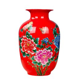 2019 fiori di cinese vaso Porcellana Vaso di fiore di ceramica Holder Fiore 13 modelli Scelta scrittorio della casa Decorazioni di Natale Stile Tradizionale Vaso in ceramica cinese fiori di cinese vaso economici