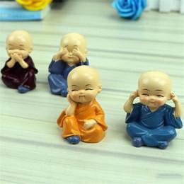 Canada Figurine de moines miniatures Bonsaï Décor Mini Fée Jardin personnage de dessin animé personnage figurines statue Modèle anima résine ornements 4 ~ 5 cm jouets pour enfants supplier garden statues ornaments Offre