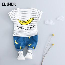 Vestiti delle ragazze dei ragazzi insiemi Banana di estate scherza il vestito dell'abbigliamento del neonato del vestito casuale del vestito del bambino del costume del cotone da abbigliamento per bambini di banana fornitori