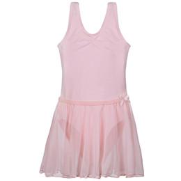 Tek Parça Kızlar Eğitimi Jimnastik Pembe / Mavi / Mor / Siyah / Beyaz / Pembe Bale Leotard Paten Dans 2-14Y için Etek Fantezi Elbise nereden