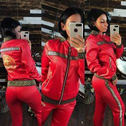 Progettista delle donne Tute Top + Pants 2 piece tute di lusso di alta qualità sportivo donna insieme Outfit Donna tute nuova moda da