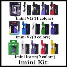 V2 kit online-Kit de icarts Imini V1 V2 100% original con cartuchos de 0,5 / 1,0 ml Precalentamiento de la batería Mod Fit Cartucho Liberty Vs Vmod Palm