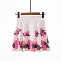 Jupe plissée à plus grande taille en Ligne-Jupe plissée Femme Fleur Jupe Taille Haute Jupes D'été Vêtements Plus La Taille M L XL XXL Nouvelle Mode