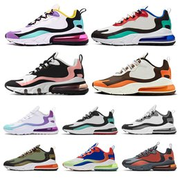 Couleur corail orange en Ligne-nike air max 270 react Phantom multi color running men women bauhaus optical black blue empty summit white high quality outdoor trainers designer shoes