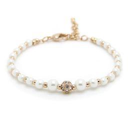 natürliches perlenarmband gold Rabatt Top qualität natürliche perlenarmbänder Weiß Faux gefälschte perlen ketten Gold Silber Rose Gold Wrap armreif Für frauen Luxus Schmuck Geschenk