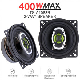 frequency car audio Promo Codes - 2pcs 10cm 4 Inch 400W 2 Way Car Coaxial Auto Audio Music Stereo Full Range Frequency Hifi Speakers Non-destructive Installation