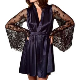 vestiti di novità oro Sconti Moda Sleepwear Femminile a maniche lunghe Prospettiva Sexy seta sottile seta Home Ice Sleepwear Estate femminile L2