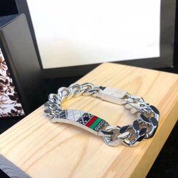 braceletes de ouro branco 24k Desconto Charmoso e luxuoso gelado de aço inoxidável da marca G Men Punk pulseiras de titânio da moda Miami corrente de elos cubanos hip hop V pulseira