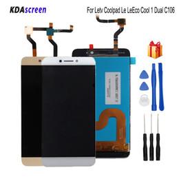 reparar reparo xperia Desconto 100% testado para letv coolpad le leeco cool 1 dual c106 display LCD com tela sensível ao toque assembléia para leeco cool1 c106 tela lcd
