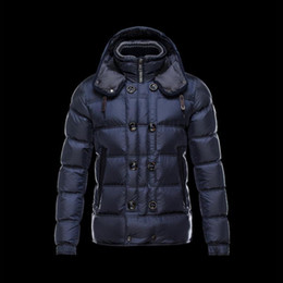 2019 casaco de pêlo duplo branco mens 2019 jaqueta de Nova inverno alta qualidade pato branco para baixo dos homens de Inverno jaquetas parka Abotoamento destacável capa preta para baixo casaco casaco de pêlo duplo branco mens barato