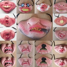 Palhaço Dia máscara de látex Cosplay meia máscara protectora 17 engraçados da cor Máscara assustador de tolo de Halloween Party de