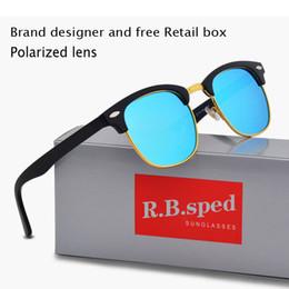 Gafas de sol reflectantes uv online-Diseñador de marca Gafas de sol polarizadas Reflective Sport Protección UV lente polaroid Diseñador de moda Gafas de sol vintage con estuche y caja
