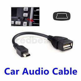 mini cabo usb feminino Desconto Mini 5 Pinos Macho USB para USB 2.0 Feminino USB OTG Host Cabo de Extensão de cor Preta