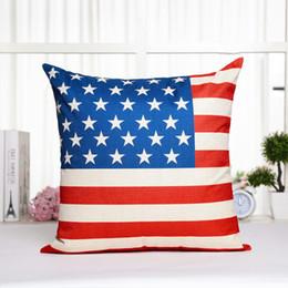 2019 amerikanisches möbel schlafzimmer Büro Sofa, Autokissen, Baumwolle, Hanf und Reis Flagge, Kissen, Kissen, britische und amerikanische Flagge