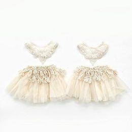 gonne bianche Sconti Baby Girl Tutu Dress Kids Girls Dress Mini Skirt Ragazze White Rim Poncho Baby Half Skirt 41