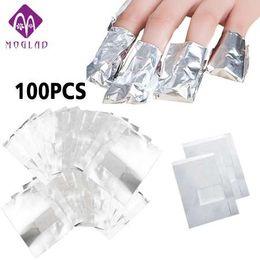 Argentina 100 piezas de papel de aluminio removedor envuelve con acetona Nail Art Soak Off Gel acrílico remoción de esmalte de uñas cheap acrylic nail foil Suministro