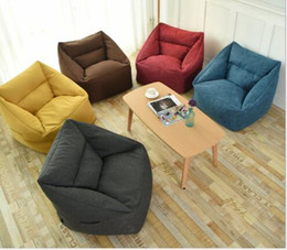 einfache wohnmöbel Rabatt Lazy Sofa Bean Bag Kleine Sofa-Möbel mit einfachem Wohnzimmer SOFAS Tatami Recreational Fabric Living Room Furniture