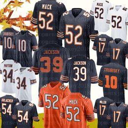 Chicago 52 Khalil Mack Ayılar forması Erkek 10 Mitchell Trubisky 96 Akiem Hicks 39 Eddie Jackson 34 Walter Payton 58 Smith Futbol Formaları nereden
