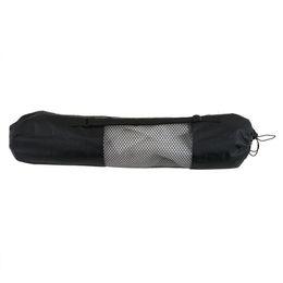 Hot vente Portable Sports Yoga Mat fitness gym sac Polyester Nylon Mesh sac à dos noir pour la beauté beauté sport en gros # 563347 ? partir de fabricateur