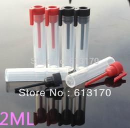 Tubos de ensayo vacíos al por mayor online-2 ml botella de perfume vacía pequeños viales de muestra de plástico esencial tubo de ensayo de aceite mayor Envío libre