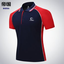 polyester badminton t shirts Coupons - Tennis Clothing Men Quick Dry Solid Male Fitness Run Jogging Outdoor Sports Badminton T-shirt Short Sleeve Breathable Polo Shirt