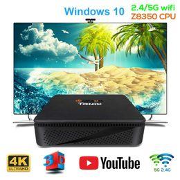 2019 android-tv-top-box TX85 Mini PC Windows 10 für Intel Atom X5-Z8350 TV Box 4G 64G Speicher 2.4G 5.8G Dual Wifi 1000Mbps Set Top Box für Xiaomi Android BT