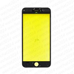 Tela do iphone 5s do oem on-line-500 pcs oem frente tela de toque exterior lente de vidro com frame para iphone 5 5s 6 plus 6 s plus 7 plus free dhl