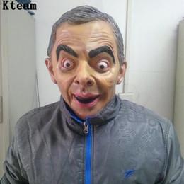 Mr mask онлайн-Веселая вечеринка Cosplay Mr. Bean Mask Cos Знаменитости Британской Веселой Звезды Живое выступление Реквизит Halloween Party Косплей Маска для лица Голова человека