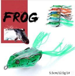 grandes señuelos de agua Rebajas Señuelos de rana Cebos de pesca a granel 12.5G 5.5cm Cebo biónico suave Nuevo equipo de pesca 6 colores