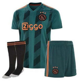 Conjunto completo de jersey online-Ajax Soccer Jersey 2019 2020 Ajax FC ADULT NERES kit Jersey KITS TADIC KLAASSEN NOURI ZIYECH uniforme de fútbol JUEGO COMPLETO CON CALCETINES