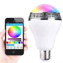 2019 автомобильное зарядное устройство dvd Новый смарт Bluetooth спикер лампы беспроводной App управления спикер смарт музыка аудио спикер LED RGB цвет лампы свет лампы E27