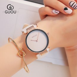 Relojes tipo mujer online-Simple Fashion New Type Pan Belt Watch Cuarzo Relojes impermeables para mujeres en Europa y América