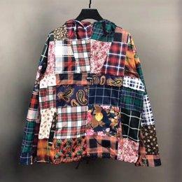 2020 panno di hoodies di modo Mens progettista moda giacche di marca Mendicante Windbreaker High Street con cappuccio casual con cappuccio Giacche Outwear cucitura Panno S-XL panno di hoodies di modo economici