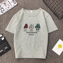 355017c49 Novo Estilo Hambúrguer e Batatas Fritas Imprimir Mulher T-shirt Top de  Manga Curta Em Torno Do Pescoço T shirt Mulher Moda Casual T-shirt Femme