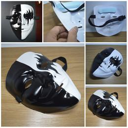 Palla da ballo pvc online-V-word Revenge mascherina di film di Hip-hop di ballo dipinto a mano Maschera Maschere sfera Mask Party Decoration T3I5373