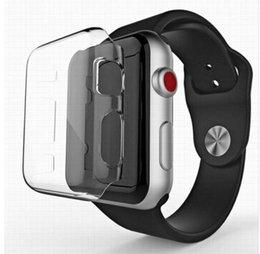 série cheia Desconto Para apple watch case série 4 40mm 44mm 360 construído em claro tpu macio protetor de tela capa completa transparente caso 38mm 42mm series123