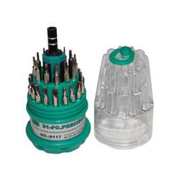 juegos de destornilladores electricos Rebajas 31 en 1 Puntas de destornillador magnético duraderas Destornillador de aislamiento eléctrico Herramienta combinada Utilidades Bits Juego de adaptadores