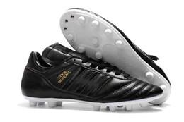 2019 zapatos blancos de fútbol al aire libre Zapatos de fútbol bajos de cuero Botas de fútbol Copa 17.1 FG para hombre Botas de fútbol Copa Mundial para exteriores Blanco Oro Negro Champaña zapatos blancos de fútbol al aire libre baratos