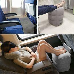 2019 кровати для взрослых автомобилей Надувные портативный путешествия подножка подушка самолет поезд автомобиль для взрослых дети кровать подножка подушки серый без сумок дешево кровати для взрослых автомобилей