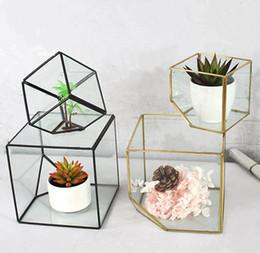 Argentina Venta al por mayor nuevo diseño y florero geométrico de cristal cúbico grande de alta calidad (L15xB15xH15cm) para decoraciones de hogar y oficina Suministro