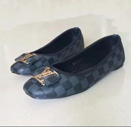 Chaussures américaines talons en Ligne-Real style européen et américain nouvelles chaussures casual talon plat femmes de haute qualité en PU matériau 8 couleurs en option livraison gratuite 928-67