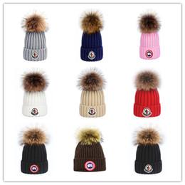 2019 cappelli di tacchino all'ingrosso cappello lavorato a maglia di alta qualità del marchio Cappellini invernali Canada CA uomini moda tappi di sport femminile classica casuale uomo all'aperto donna Berretti d'oca