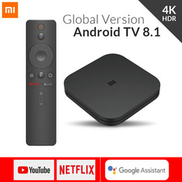Bluetooth para tv hdmi online-Xiaomi Mi TV Box S 4 Android 8.1 4K HD QuadCore Smart Bluetooth 2GB 8GB HDMI WiFi Configurar cajas Reproductor multimedia