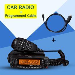 Coche walkie talkie online-TYT TH-9800 Car Ham Radio 50W Walkie Talkie Transceptor de banda cuádruple + cable programado