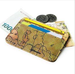 Paquete de tarjeta de mapa creativo para hombres y mujeres conjunto de tarjeta bancaria cartera mini monedero paquete de tarjeta pequeña desde fabricantes