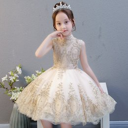 vestidos de estilo princesa para meninas Desconto Meninas vestido de festa à noite estilo chinês verão crianças vestidos para meninas crianças traje elegante princesa dress meninas flor vestido de noiva